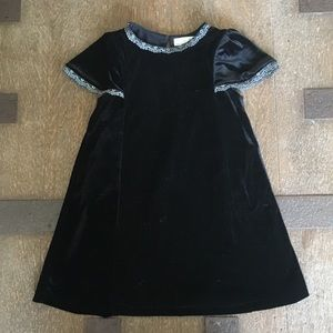 ZARA Blk velvet dress